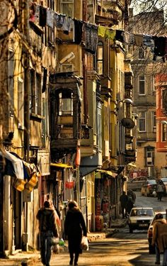 in the street (Old houses,Fatih, Istanbul).... by Sedat Ozdemir on 500px