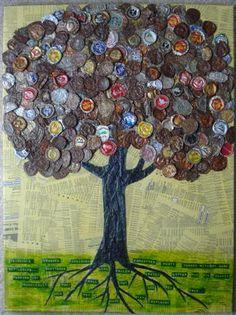 Bottle cap tree!