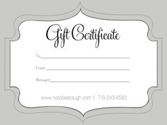 a cute looking gift certificate