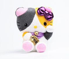 Hello Kitty Mascot Plush: Calico Lucky Cat