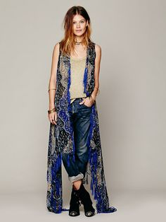 Paisley Sheer Kimono at Free People Clothing Boutique - if this wasn't sleeveless it would be mine now!!!