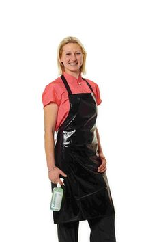 Black PVC Apron for Professional Groomers - Buy Here Plastic Aprons, Pvc Apron, Grooming Salon, Hairdresser, Blouse, Work Wear, Overalls, Female, Womens Fashion