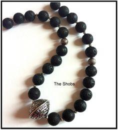 Beautiful Lava necklace ! Lava, Beaded Bracelets, Jewellery, Beautiful, Fashion, Moda, Jewels, Fashion Styles, Pearl Bracelets