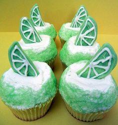 Margarita Cupcakes. Ahhh so cute and summery!