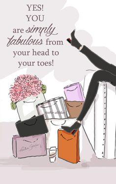Eres simplemente fabulosa de su cabeza a por RoseHillDesignStudio