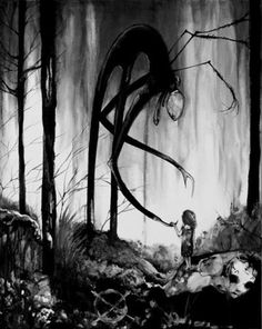love pretty art Black and White Cool beautiful creepy horror dark goth gothic I believe it is slenderman Dark Fantasy, Fantasy Art, Creepy Drawings, Creepy Art, Creepy Dude, Dark Drawings, Arte Horror, Horror Art, Horror Drawing