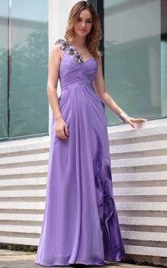 http://en.trouws.com/evening-dresses-c25 Chiffon Ruching Pattern One Shoulder Evening Dress - $215.99 , Trouws.com