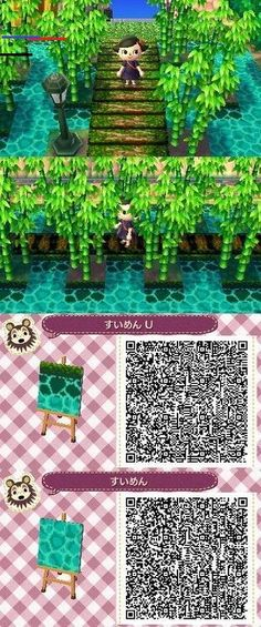 Leaf QR Paths Only - animal crossing new leaf water QR. I have this in my town. It's really pretty. (RoseTree's (My) -New Leaf QR Paths Only - animal crossing new leaf water QR. I have this in my town. It's really pretty. (RoseTree's (My) - Animal Crossing 3ds, Animal Crossing Qr Codes Clothes, Acnl Pfade, Minecraft World, Games Design, Acnl Paths, Motif Acnl, Amazing Animals, Leaf Animals