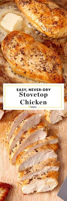 How to Cook Moist Tender and Easy chicken breast on the stove top. Need quick and easy weeknight dinner recipes and ideas? Memorize this simple healthy stovetop meal. Perfect for busy nights and families on a budget. Kids and adults alike love this si Pan Seared Chicken, Pan Cooked Chicken, Recipe For Cooked Chicken Breast, Baked Chicken Breast, Recipe For Boneless Skinless Chicken Breast, Juicy Baked Chicken, Moist Chicken, How To Cook Chicken, Carne Asada