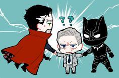 Dr.Strange,Everett Ross,Black Panther