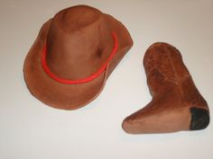 Gumpaste Cowboy Hat and/or Cowboy Boot Cake.  by GumpasteGarden, $3.00