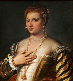 Francesco Montemezzano (studio of Paolo Veronese) Portrait of a young Venetian woman Italian Renaissance Dress, Renaissance Mode, Renaissance Jewelry, Renaissance Fashion, Viking Jewelry, Ancient Jewelry, Italian Outfits, Italian Fashion, Baroque Painting
