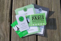 3 Days in Paris Invitation Package from Isaac Arther and Cody Fague