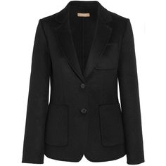 Michael Kors Collection Wool, angora and cashgora-blend blazer ($2,020) ❤ liked on Polyvore featuring outerwear, jackets, blazers, slim fit wool jacket, michael kors jackets, michael kors, michael kors blazer and blazer jacket