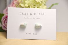 Little Bird Earrings  beautiful handmade polymer by ClayandClasp, $20.00