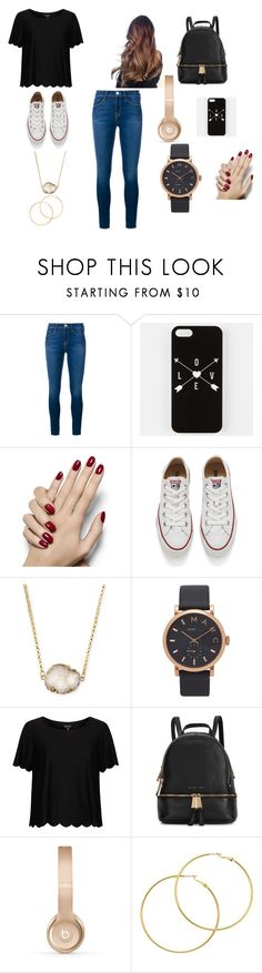 """Picking A Outfit For Tomorrow"" by takhya on Polyvore featuring Frame Denim, Converse, Jules Smith, Marc Jacobs, Topshop, Michael Kors, Beats by Dr. Dre and Melissa Odabash"