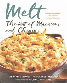 A cookbook that reinvents the American classic, macaroni and cheese, with gourmet ingredients, handcrafted artisan cheeses, and unique flavor combinations. MELT: THE ART OF MACARONI AND CHEESE is the