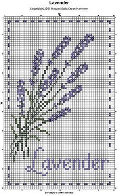 lavender cross stitch pattern for the garden lover