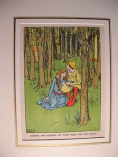 "Jorinda and Joringel by Helen Stratton - ""Jorinda and Jorindel sit down near the old castle."""