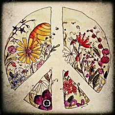 ☮ American Hippie Art - Peace Sign
