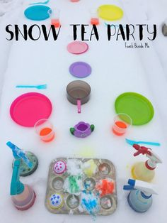 Looking for a fun winter play idea? Try this snow tea party with your kids. They will love getting creative with this pretend play activity! Snow Activities, Winter Activities For Kids, Winter Crafts For Kids, Kindergarten Activities, Winter Fun, Winter Theme, Toddler Activities, Sensory Activities, Play Activity