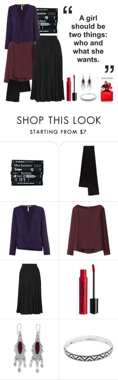 """Silken Autumn"" by vveave-silk ❤ liked on Polyvore featuring Vince, White Stuff, Uniqlo, Gucci, NYX, NOVICA and Marc Jacobs"