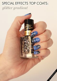 Don't you love it when the pros take it upon themselves to make nail art a cinch? We can't get enough of the special effects top coats that are stocking the shelves (and our beauty cabinets); these aren't your traditional top coats.