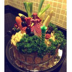 My homemade macaroni schotel birthday cake