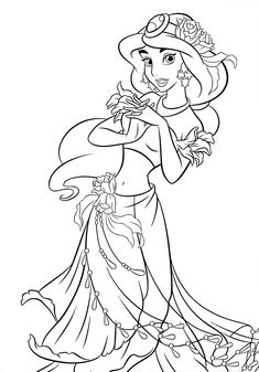 Disney Princess Jasmine Coloring Pages to Print . Disney Princess Jasmine Coloring Pages to Print . Disney Jasmine Coloring Pages