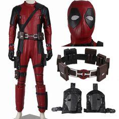 Deadpool Red Leather Jumpsuit Adult Costume
