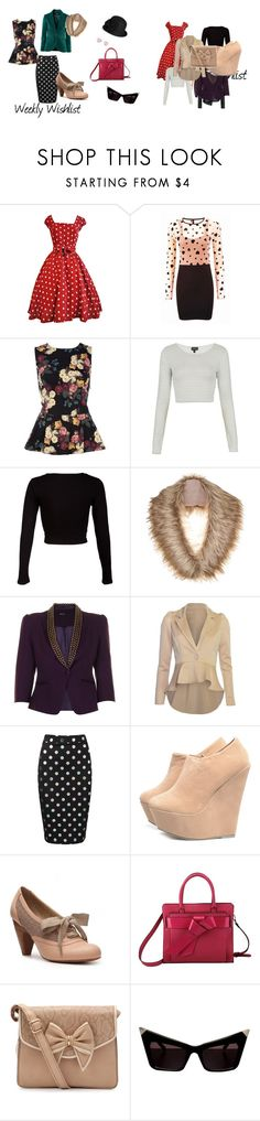 """""""Weekly Wishlist 12"""" by mellella ❤ liked on Polyvore featuring River Island, Topshop, Miso, H&M, Vila Milano, Beloved, AX Paris, Crown Vintage, Retrò and Jessica Simpson"""