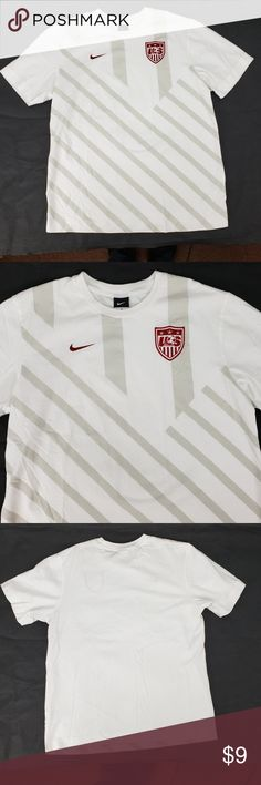 0e4a85d57 Nike USA Soccer T-Shirt World Cup White Gray L Nike USA Soccer team t