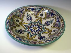 Cerâmica marroquina servindo Bowl 2308