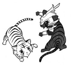 Samurai Troopers  black and white tigers