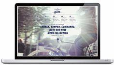 web design: Goliath Sportswear by Studio Beige , via Behance