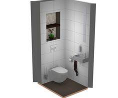 Leuk idee nis in toilet met mozaïek