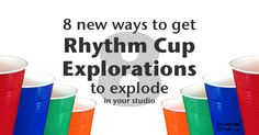 Here are 8 rhythm cup ideas to make rhythm cup explorations explode in your studio! Have a competition, invite band and other ideas are in this post. Music Activities, Music Games, Piano Music, Sheet Music, Teaching Resources, Teaching Ideas, Cup Games, Piano Teaching, Music For Kids