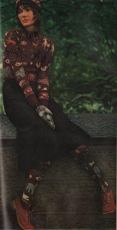 brilliant zoo fairisle - alley cat betsey johnson - 1971