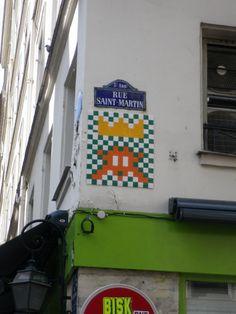 Space Invader - Paris 3, rue St Martin