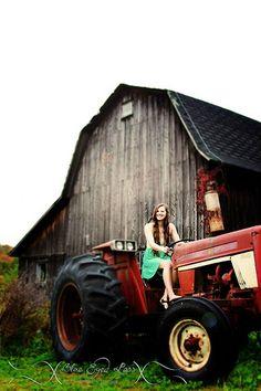 senior session, country girl