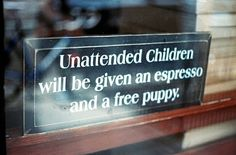 never leave your child unattended!