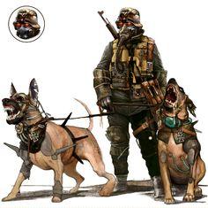 Krieg Hund bt Monkey - Paw Deviant Art  #Dieselupunk #pulp #adventure