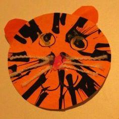 Spin Art Tigers | AllFreeKidsCrafts.com