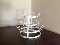 French Vintage 28 Peg Bottle Drying Rack. by LePasseRecompose
