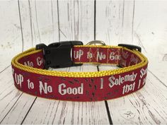 RED I Solemnly Swear that I am up to No Good Harry Potter Dog Collar by PolkaDotTails on Etsy https://www.etsy.com/listing/287295497/red-i-solemnly-swear-that-i-am-up-to-no