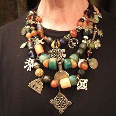 helena nelson reed jewelry | Draa Valley (south Morroco)-old coins,silver,pendants,amber,amazonite ...