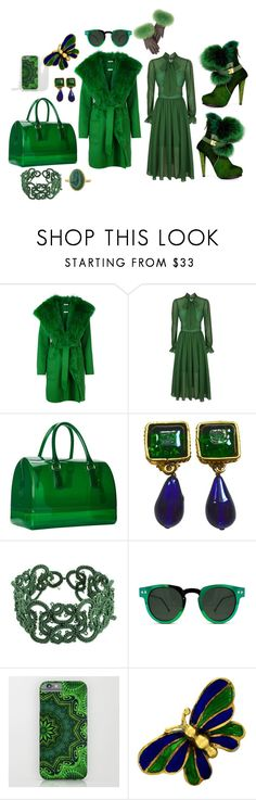 """wintergreen"" by moestesoh ❤ liked on Polyvore featuring P.A.R.O.S.H., self-portrait, Furla, Chanel, Mociun, NOVICA, Spitfire and Tiffany & Co."