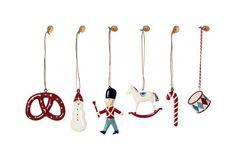 Asst. of 6 Classic Tin Ornaments