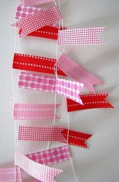 Pretty ribbons on string.....so simple but a lovely little bunting :)