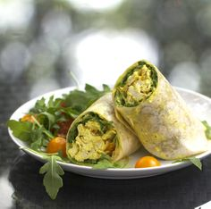 curried chicken salad: delicious in a wrap